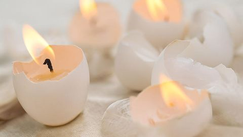 egg shell candle