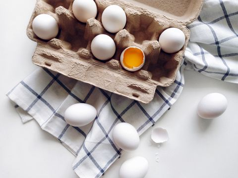 eieren in een eierdoos