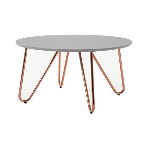 eibar ronde salontafel, grijs en koper
