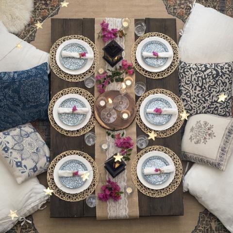 eid al fitr outdoor table decor