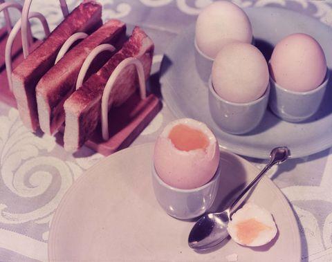 Eieren bij ontbijt