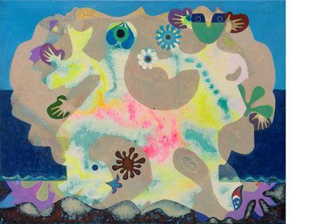 Eileen Agar,Sea-Dance for a Child,1978, Acrylic on canvas