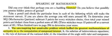 Einstein interés compuesto