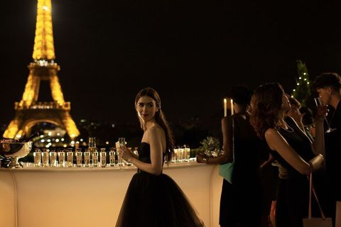 Lighting, Tower, Photograph, Dress, Night, Beauty, Gown, Midnight, Strapless dress, Flash photography,