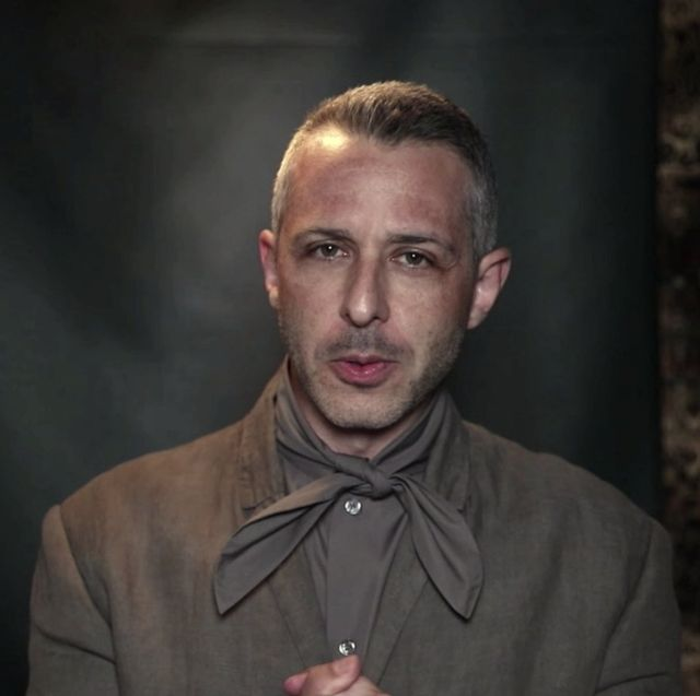 succession actor jeremy strong emmy 2020 pussy bow shirt