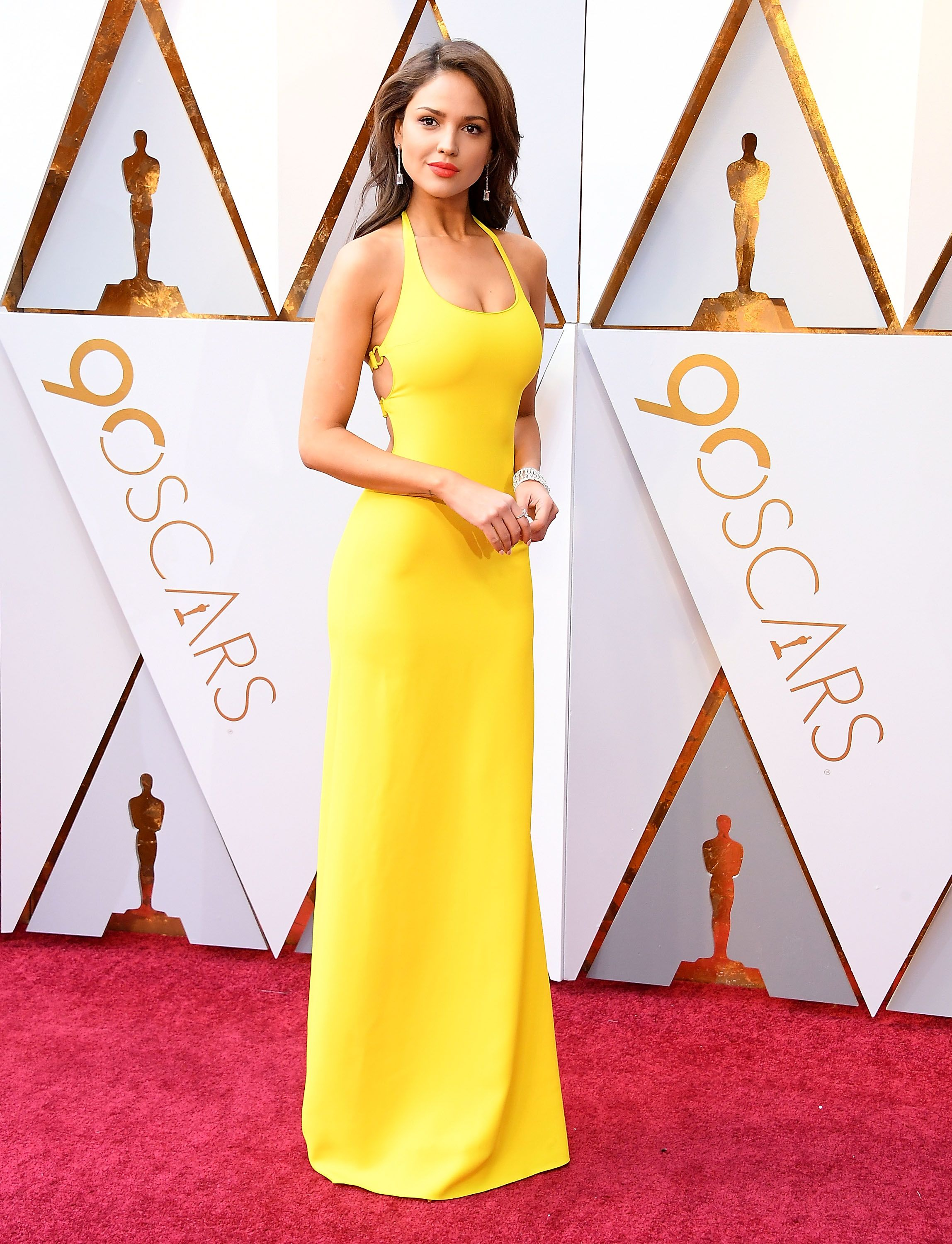 Eiza González, 2018 Eiza González brightened up the red carpet in a very yellow Ralph Lauren gown that shows less can be more.