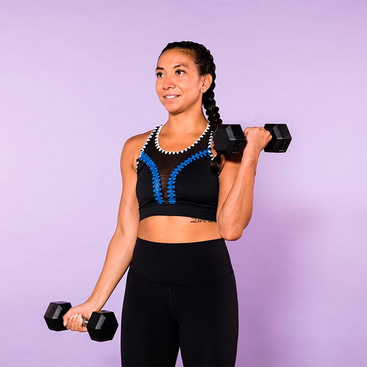 Ejercicios para adelgazar y tonificar brazos con pesas