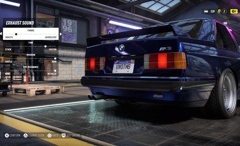 Скриншот гаража игры NFS