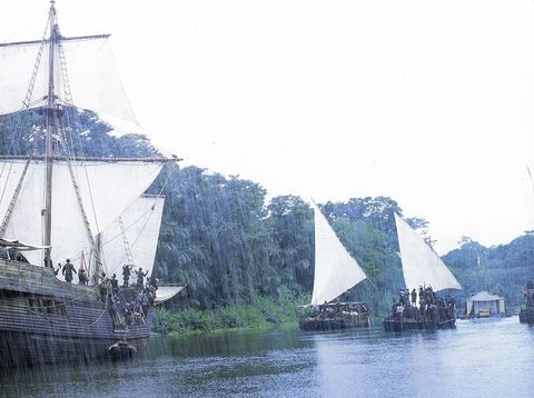 Boat, Vehicle, Tall ship, Watercraft, Ship, Schooner, Sailing ship, River, Galleon, Sail,