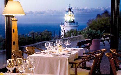 Restaurant, Room, Table, Real estate, Vacation, Furniture, Building, Resort, Sea, Hotel,