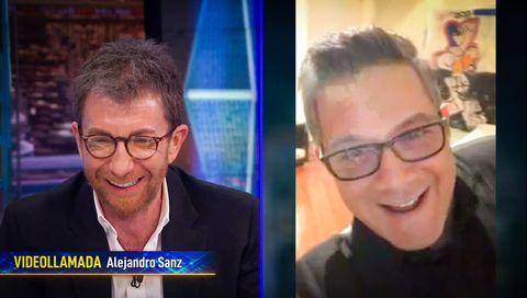 Alejandro Sanz hablando con Pablo Motos en 'El Hormiguero: Quédate en casa'.