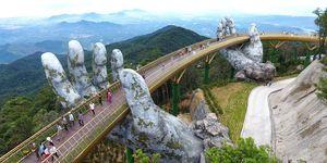 El puente de las manos en Vietnam