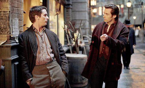 Fotograma de 'El truco final (El prestigio)' (2006), con Hugh Jackman y Christian Bale.