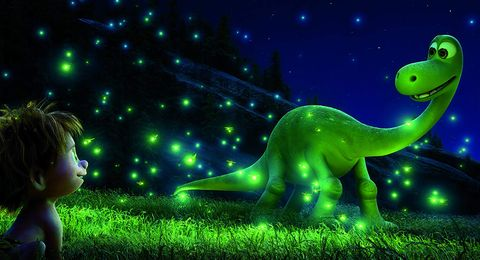 Green, Light, Dinosaur, Sky, Animation, Organism, Illustration, Wildlife, Star, Night,