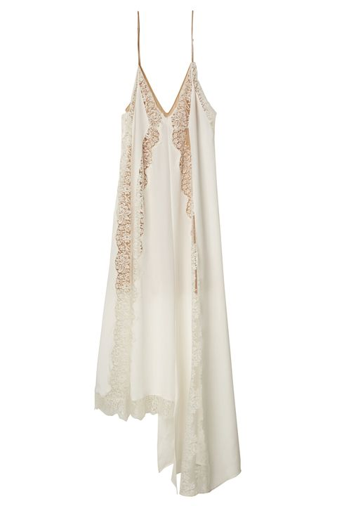 Clothing, White, Dress, camisoles, Beige, Lace, Nightgown, Gown, Neck, Day dress,