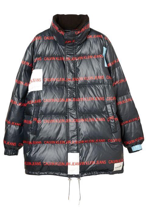 Clothing, Outerwear, Jacket, Black, Sleeve, Hood, Pattern, Puffer, Coat, Top,