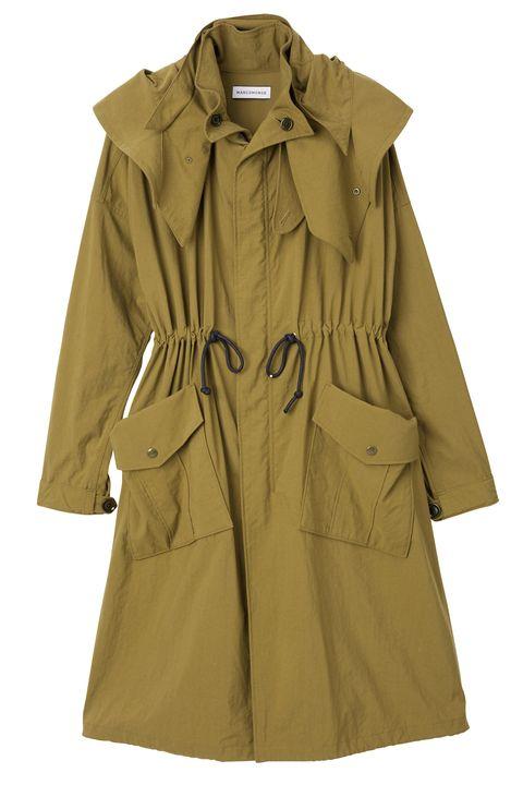 Clothing, Outerwear, Coat, Trench coat, Sleeve, Overcoat, Khaki, Jacket, Duster, Collar,