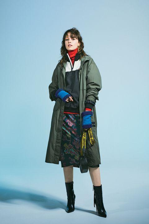 Clothing, Fashion, Outerwear, Coat, Fashion design, Overcoat, Fashion model, Costume, Parka, Jacket,