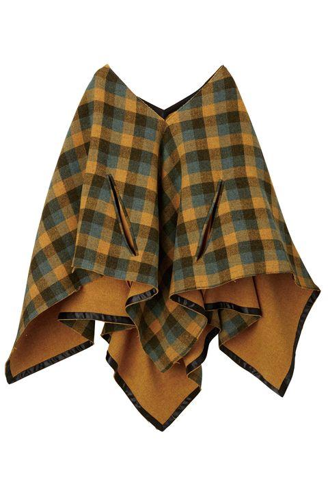 Plaid, Tartan, Clothing, Pattern, Textile, Design, Outerwear, Poncho, Wool, Sleeve,