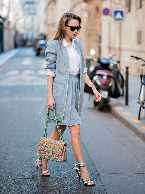 Clothing, Street fashion, White, Fashion, Pink, Snapshot, Jeans, Waist, Denim, Footwear,