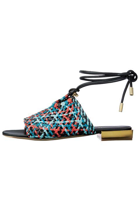 Footwear, Slingback, Turquoise, Shoe, Sandal, Fashion accessory, Strap,