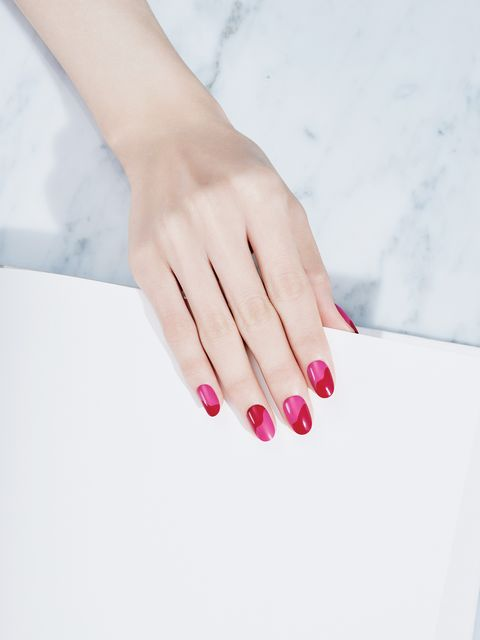 Nail, Manicure, Nail polish, Pink, Nail care, Red, Cosmetics, Finger, Hand, Beauty,