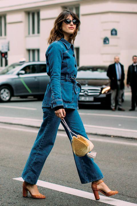 Street fashion, Clothing, Jeans, Denim, Turquoise, Blue, Fashion, Leg, Footwear, Standing,