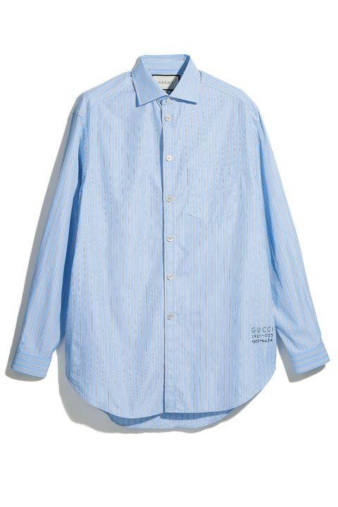 Clothing, Blue, Denim, Sleeve, Collar, Shirt, Button, Pocket, Outerwear, Textile,