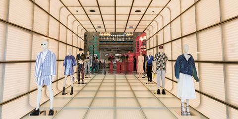 Building, Shopping mall, Outlet store, Aisle,