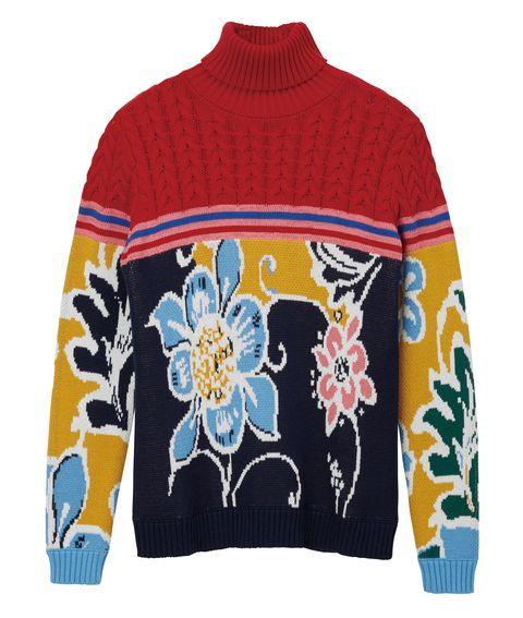 Clothing, Woolen, Sweater, Blue, Outerwear, Sleeve, Wool, Long-sleeved t-shirt, Textile, Jersey,