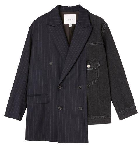 Clothing, Outerwear, Jacket, Sleeve, Blazer, Suit, Coat, Formal wear, Button, Collar,