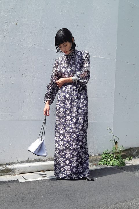 Clothing, Dress, Fashion, Street fashion, Standing, Outerwear, Textile, Formal wear, Costume,