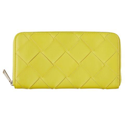 Yellow, Wallet, Rectangle, Coin purse, Fashion accessory, Bag, Handbag, Leather,