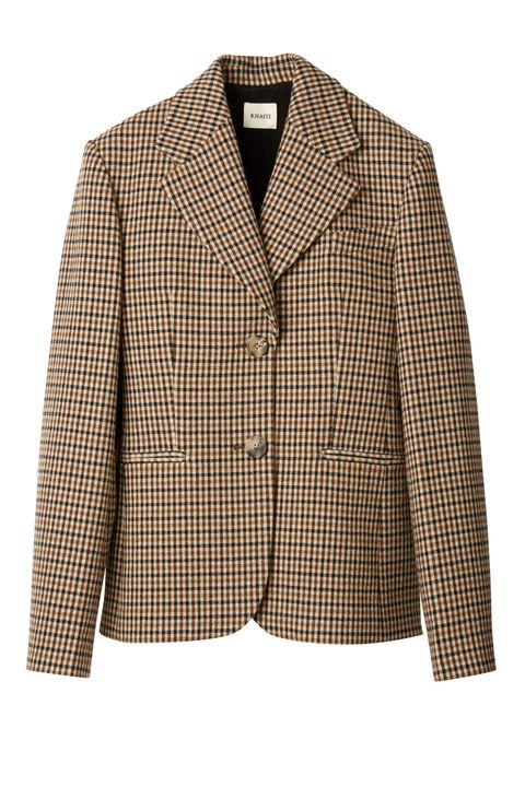 Clothing, Outerwear, Blazer, Jacket, Beige, Suit, Sleeve, Top, Coat, Formal wear,