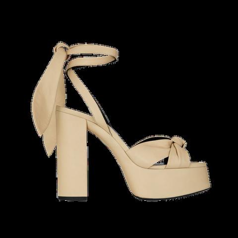 Footwear, Sandal, High heels, Beige, Shoe, Strap, Slingback, Basic pump, Bridal shoe, Court shoe,