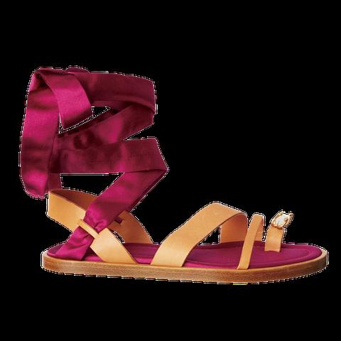 Footwear, Purple, Sandal, Violet, Pink, Magenta, Shoe, High heels, Wedge, Leather,