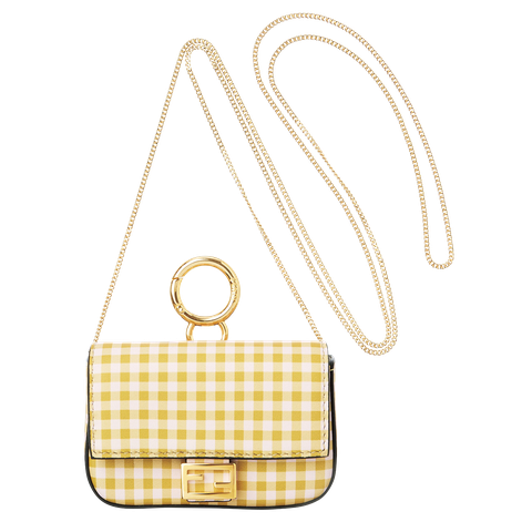 Bag, Handbag, Yellow, Shoulder bag, Fashion accessory, Design, Beige, Chain,