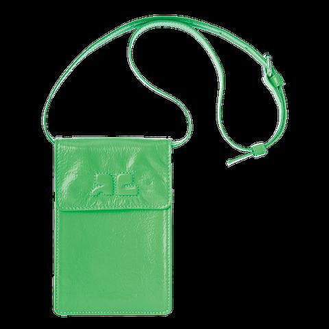 Green, Bag, Water bottle,