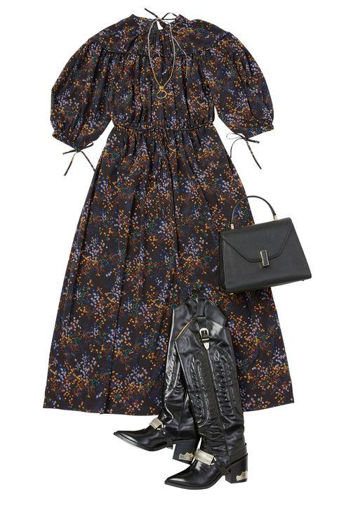 Clothing, Outerwear, Costume, Sleeve, Robe, Raincoat, Visual arts, Dress, Pattern, Rain suit,
