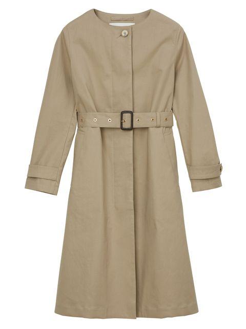 Clothing, Sleeve, Outerwear, Trench coat, Khaki, Coat, Robe, Beige, Dress, Overcoat,