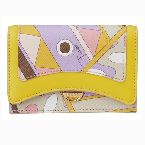 Yellow, Wallet, Fashion accessory, Coin purse, Rectangle,