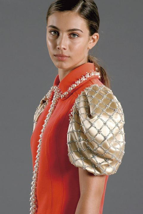Hairstyle, Style, Collar, Fashion, Dress, Eyelash, Day dress, Fashion model, Model, One-piece garment,