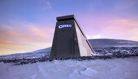 冰天雪地中的「oreo 保險庫」