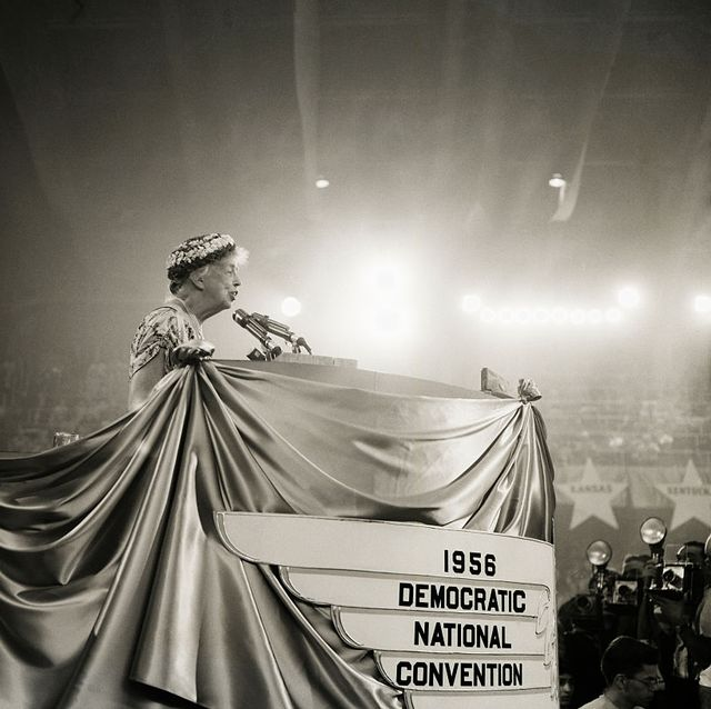 Eleanor Roosevelt Speaking at the 1956 Democratic National Convention