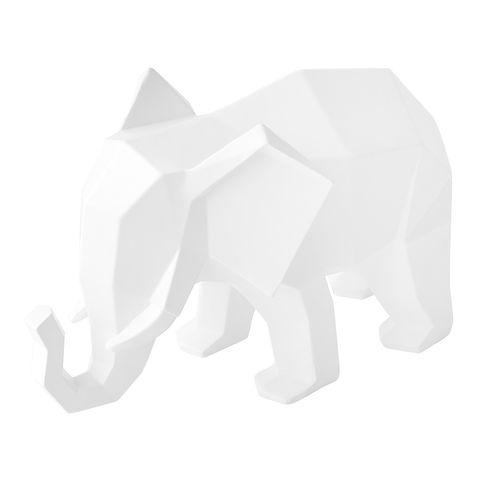 figura blanca con elefante que parece de origami de el corte inglés