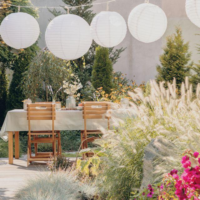 stylish garden area
