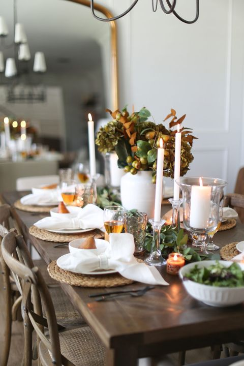 elegant greenery thanksgiving centerpieces