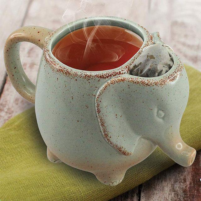 elephant tea compartment mug