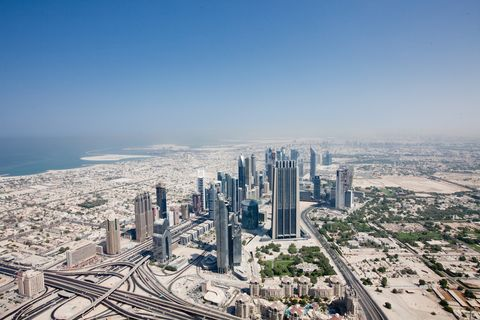 elevated view of dubai