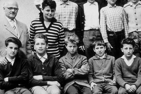 arnold schwarzenegger schoolfoto
